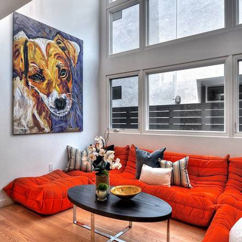 paintings in client's homes -