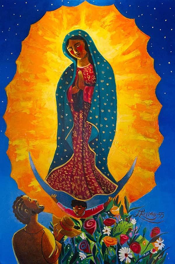 Nuestra Señora de Guadalupe  pintada por nuestro amigo, Hermano Mickey McGrath (2012)