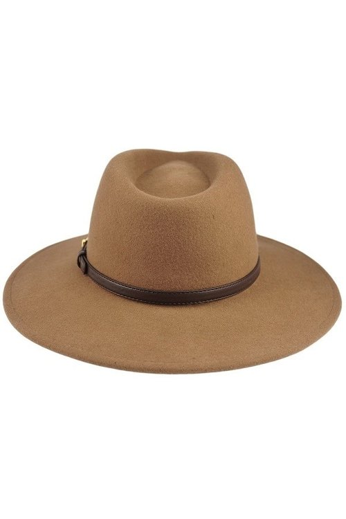 b711cd27135 Brown Wool Felt Panama Hat — The Vinyl Studio