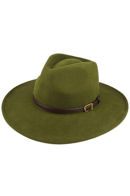 63de01c8d Green Wool Felt Panama Hat