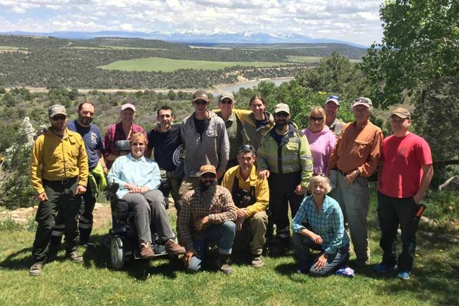 Dolores community with a  Prescribed Fire Training Exchange  (TREX) team, National Wildfire Community Preparedness Day