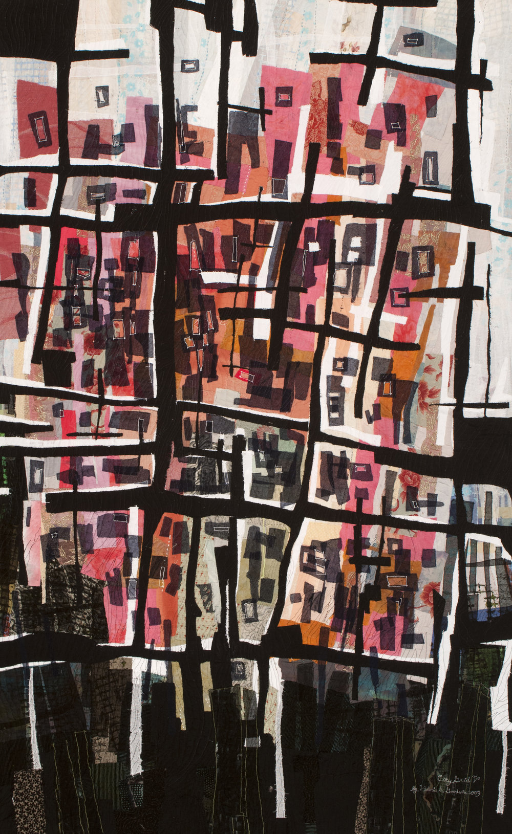 """City Grid V -- 33"""" x 53"""" -- 2007 -- Private Collection of Maureen Henderson"""