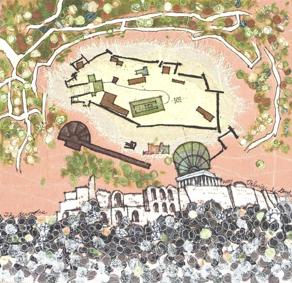 "Acropolis -- 13"" x 12.75"" -- 2007"