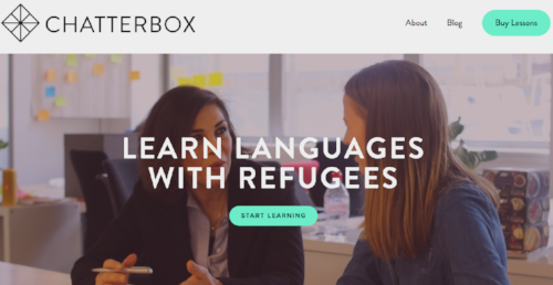 Chatterbox offers language courses delivered by refugees.
