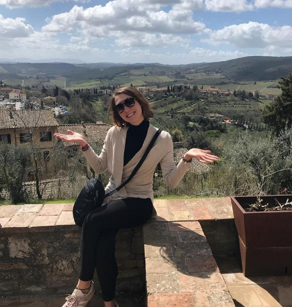Under the Tuscan Sun in San Gimignano, Italy.