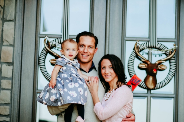 Julie and her sweet family, baby Kate and husband, Kelly.