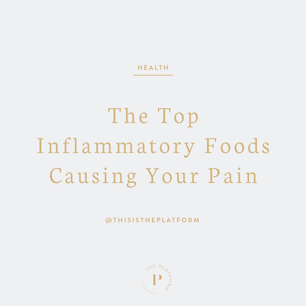 The Platform Podcast by Kelli Tennant, The top inflammatory foods causing your pain, autoimmune disease, autoimmune illness, chronic pain, chronic inflammation