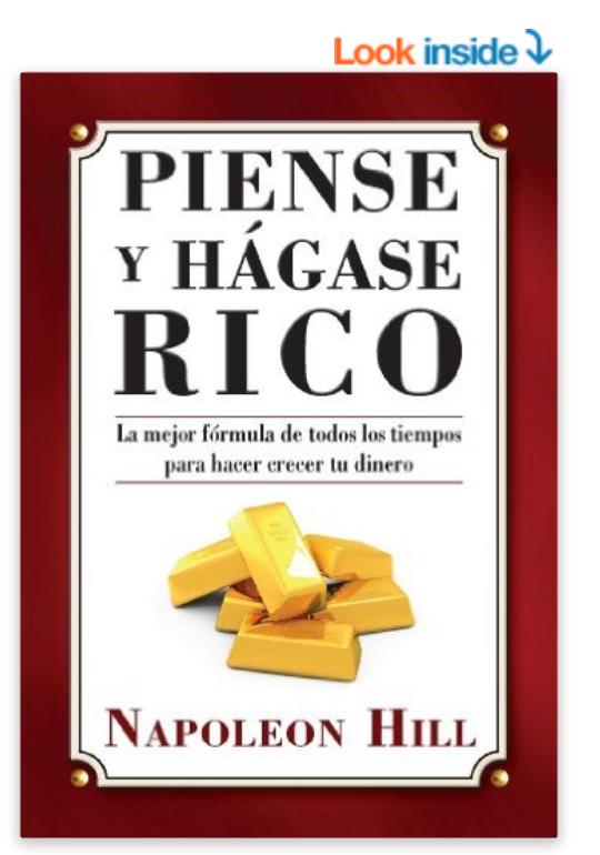 Libro Piense y hagase rico Napoleon Hill Despertando al gigante interior Tony Robbins Vida Cambio de Vida