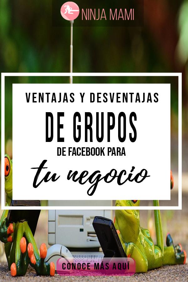 Ventajas y desventajas de usar grupos de facebook