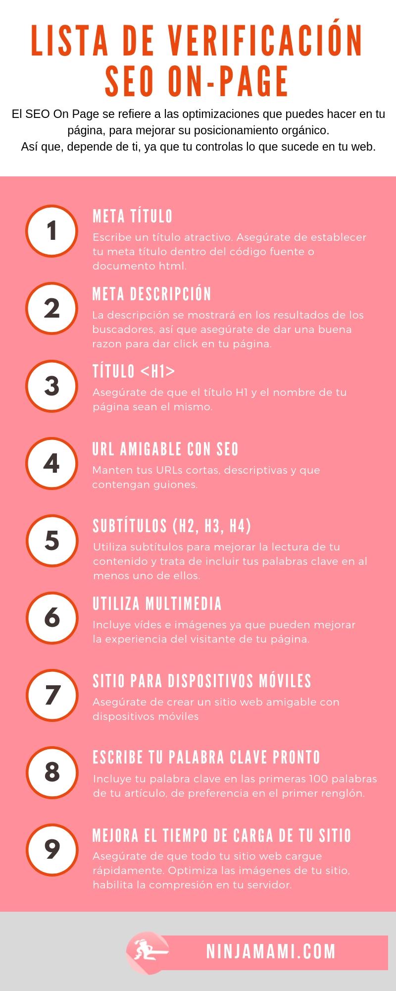 Checklist de SEO para tu página web