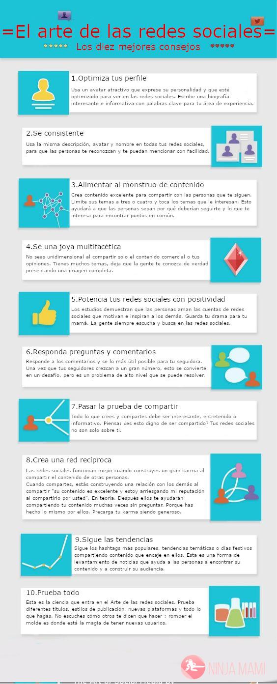Infografía, los 10 mejores consejos para tus redes sociales