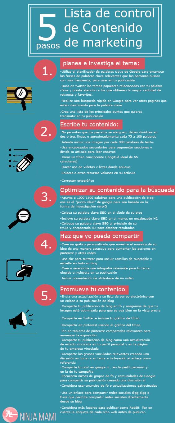 5 pasos para mejorar tu marketing de contenidos