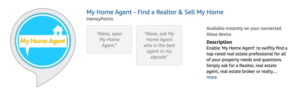 Amazon Alexa - Real Estate Skill - My Home Agent - Find a Realtor - Sell my home - Skill Search.png