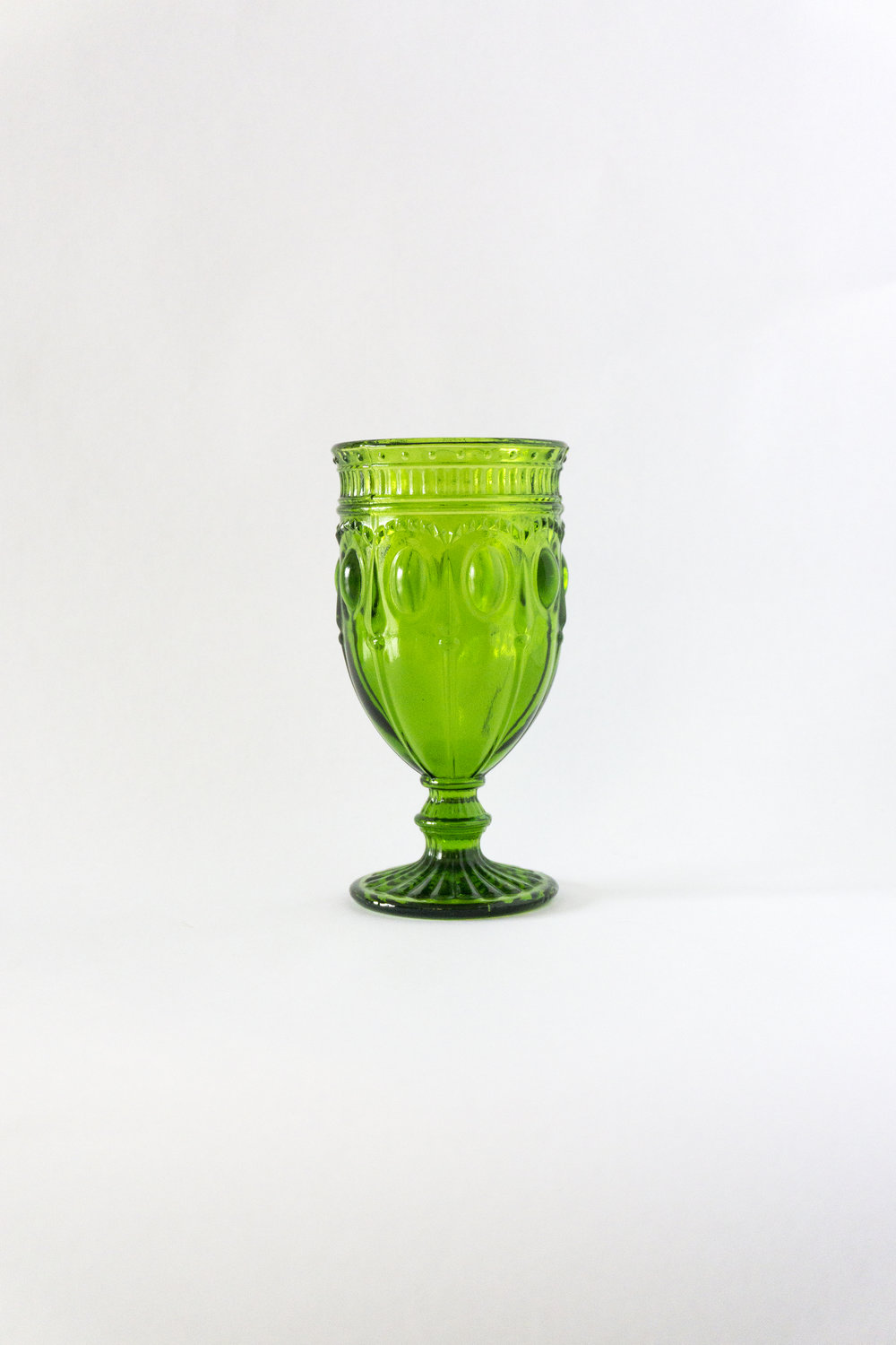 Olive Green Goblet  12 oz