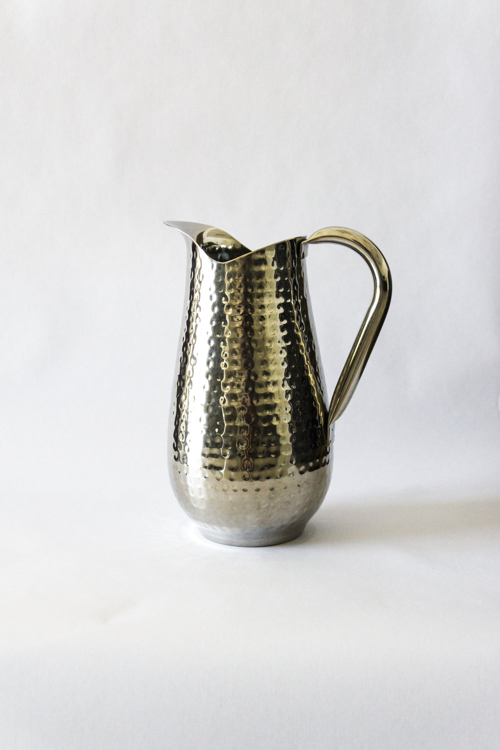 Stainless Steel Hammered Water Pitcher  $6.00