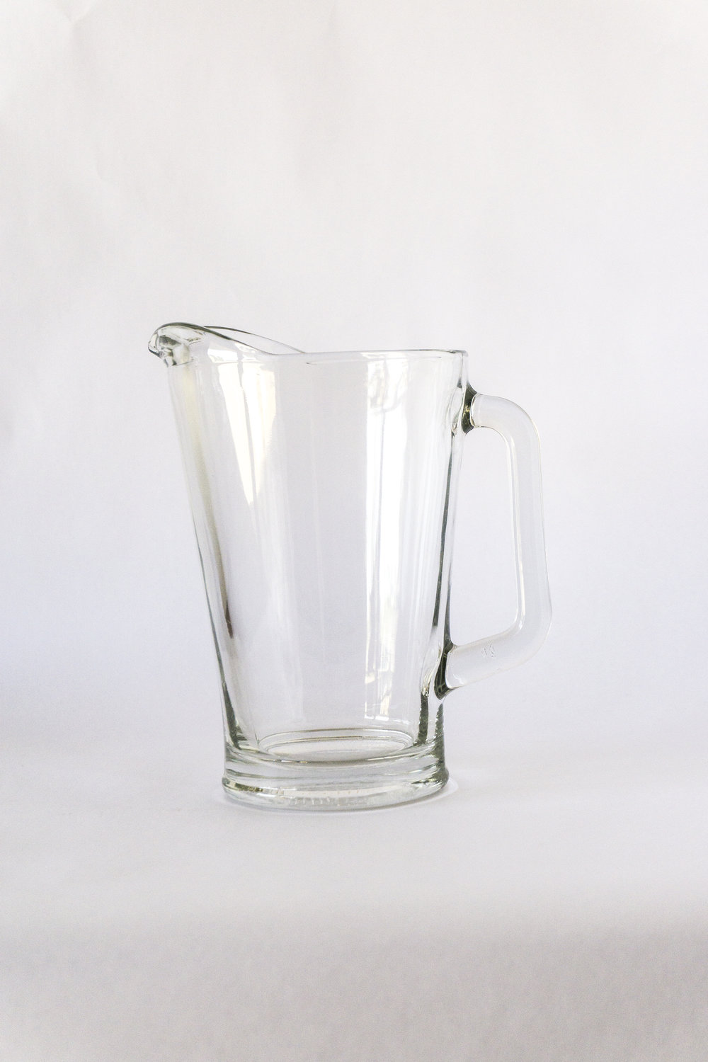 Glass Water Pitcher  60 oz  $2.50