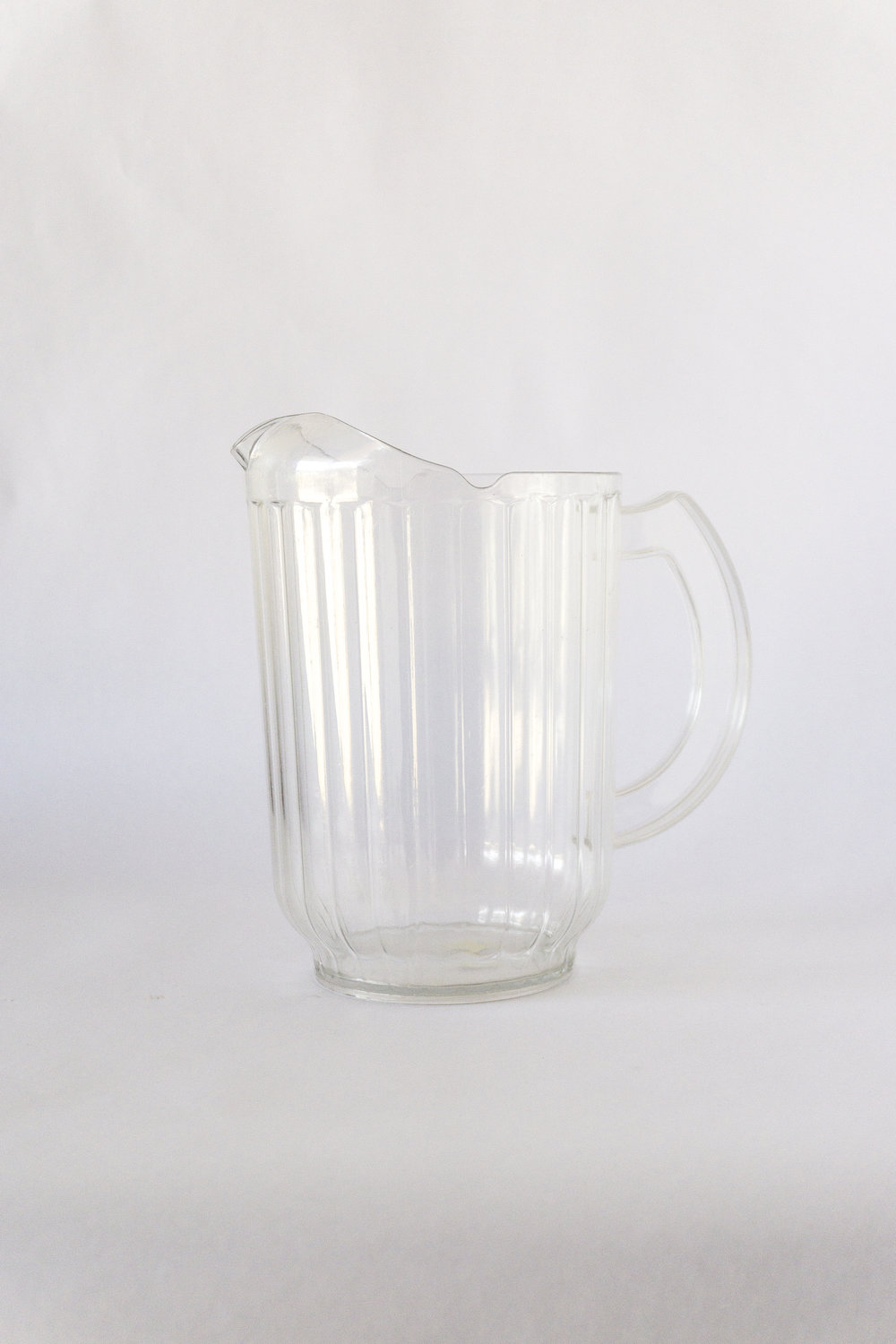 Clear Plastic Water Pitcher  48 oz  $2.00