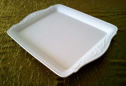 Ceramic Food Platter  Small $2.00  Medium $6.00 Large $10.00