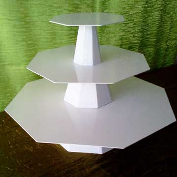 "Octagon Tiered Tray  (8"", 14"", 20"")  $25.00"