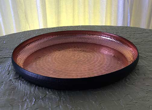 Copper Hammered Serving Tray  $9.50