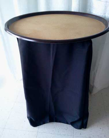 Waiter Tray Stand w/ Black Cover  $12.00