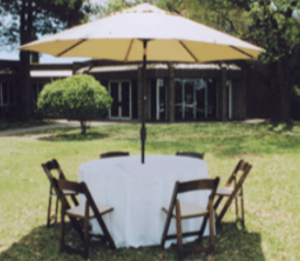 umbrella with table