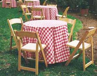 Polyester Checkered Table Set Up