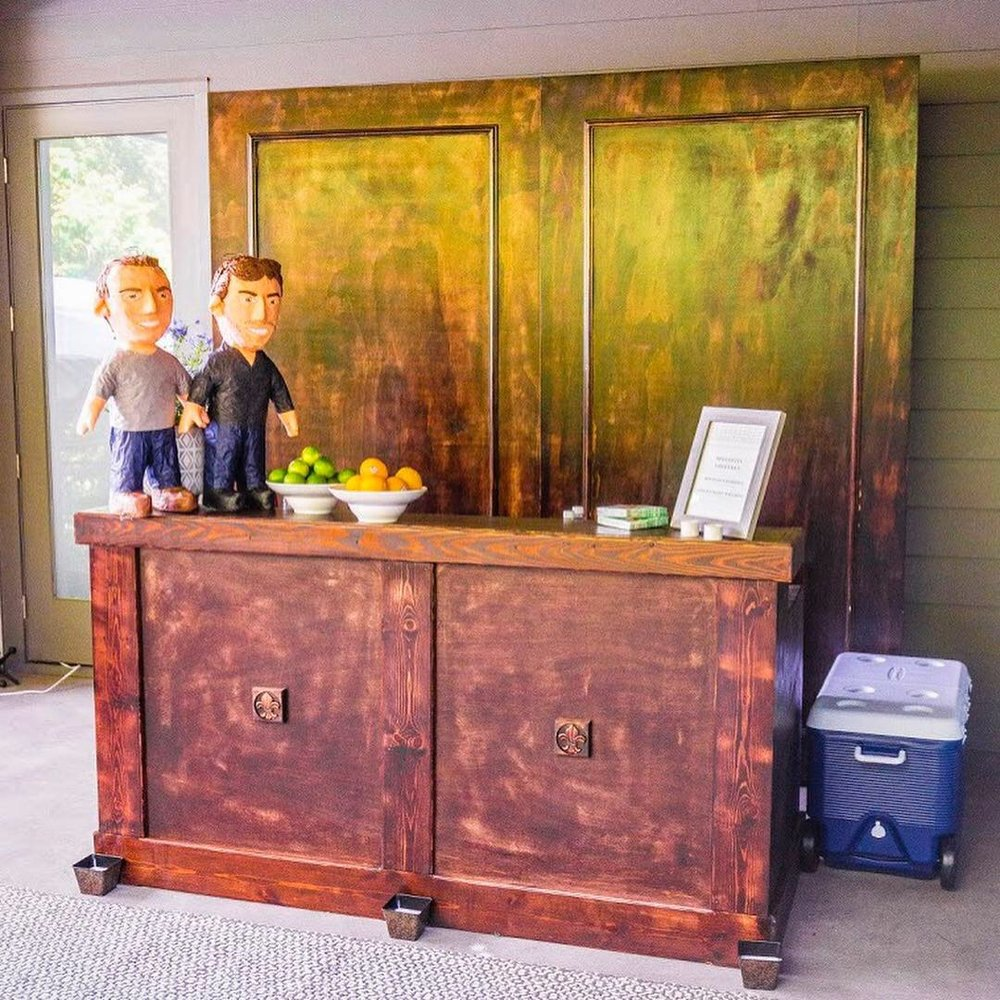 Fruitwood Bar with Pannels