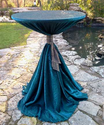 Iridescent Crush Linen on Cocktail Table