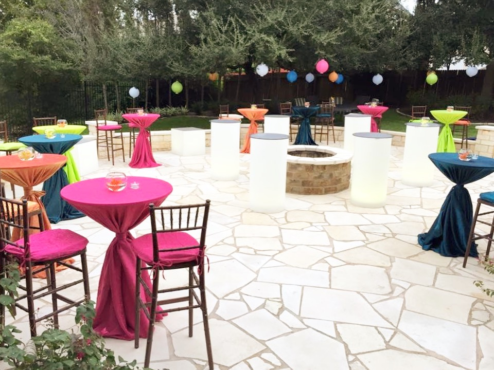 Glow Furniture with Chiavari Bar Stools