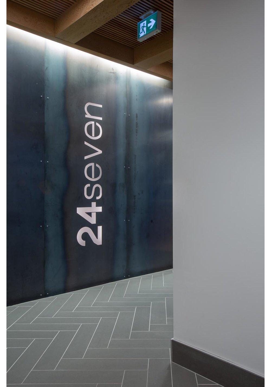 24Seven Condominium, photo of interior lobby / Photo:  Lindsay Reid