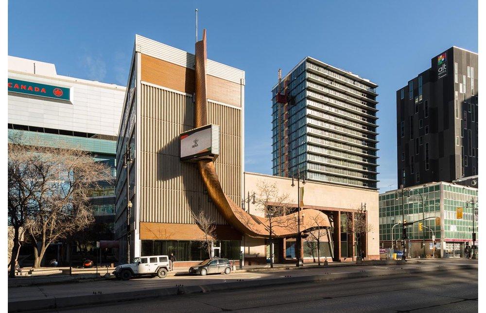 APTN Building, exterior photo of building / Photo:  Lindsay Reid