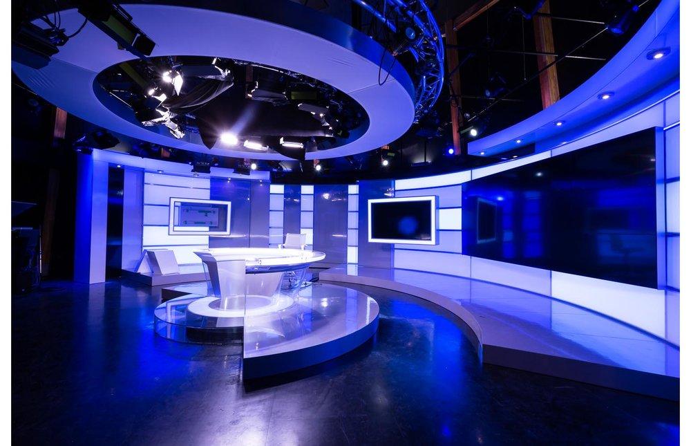 APTN Building, interior photo of television studio / Photo:  Lindsay Reid