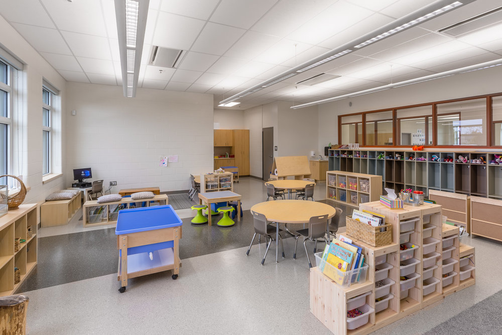 Ecole Rivière Rouge Elementary, interior photo of classroom / Photo:  Lindsay Reid