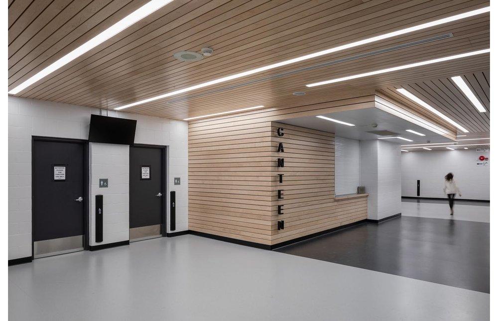 Seven Oaks Performance Arts Centre, interior photo of lobby / Photo:  Lindsay Reid