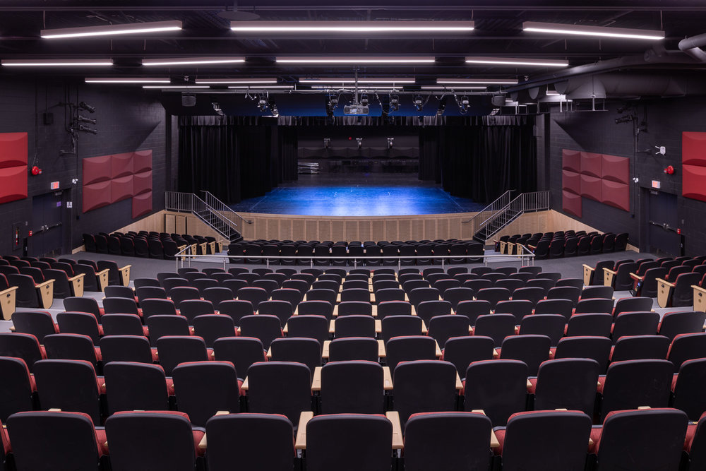 Seven Oaks Performing Arts Centre, interior photo of the theatre / Photo:  Lindsay Reid