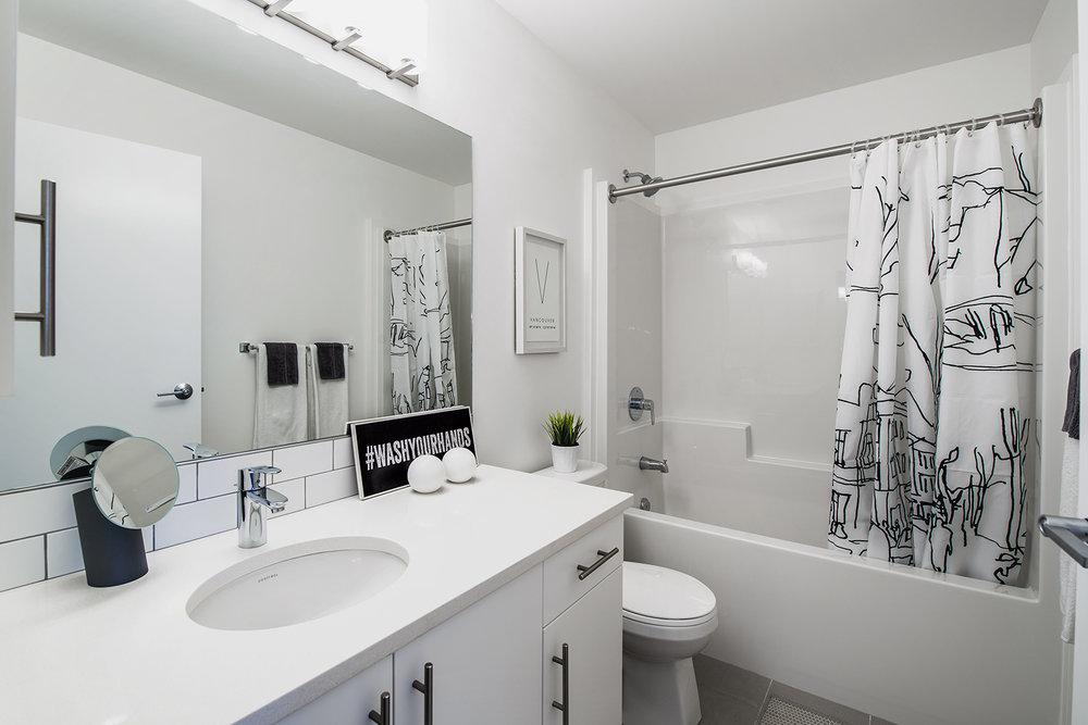 24Seven Condominiums, interior photo of suite bathroom