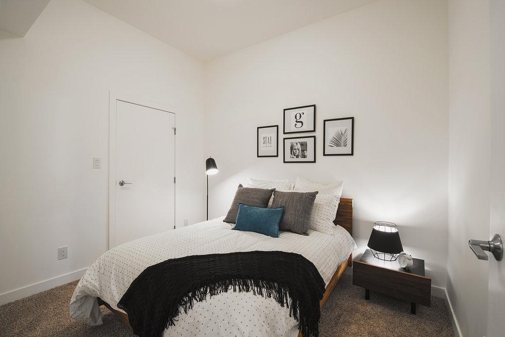 24Seven Condominiums, interior photo of suite bedroom