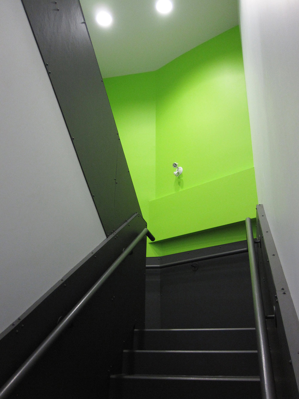 Crosstown Civic Credit Union, interior photo of stairwell