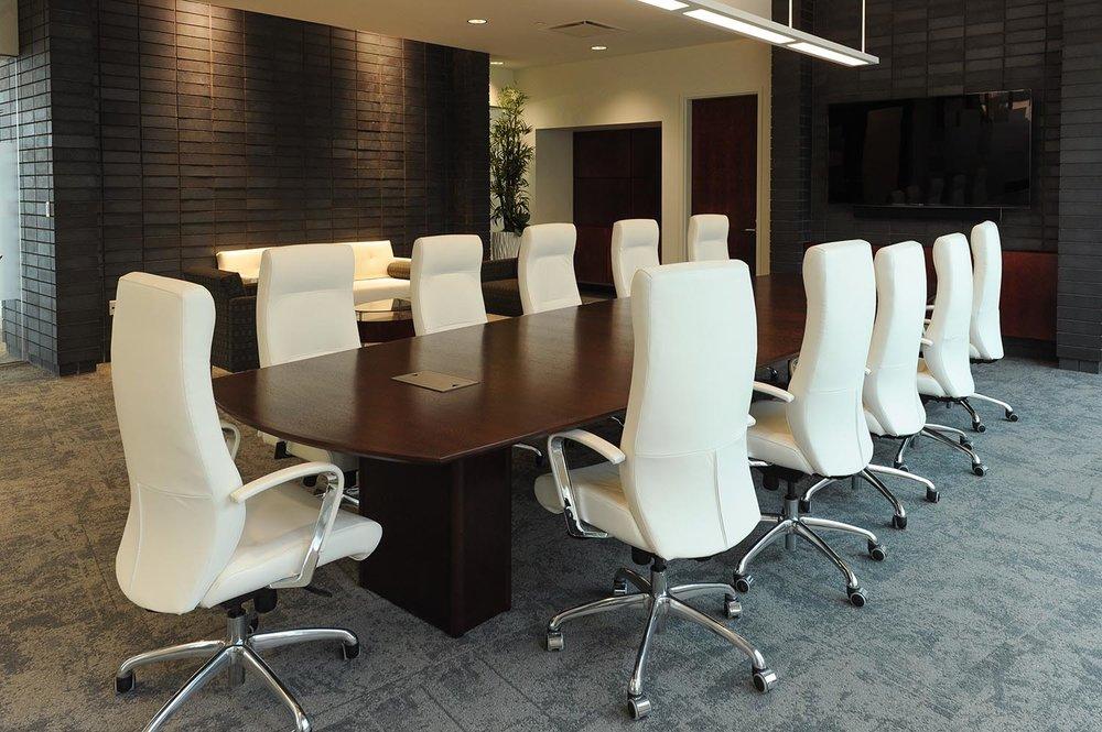 Entegra Credit Union, interior photo of meeting room / Photo: Joel Ross