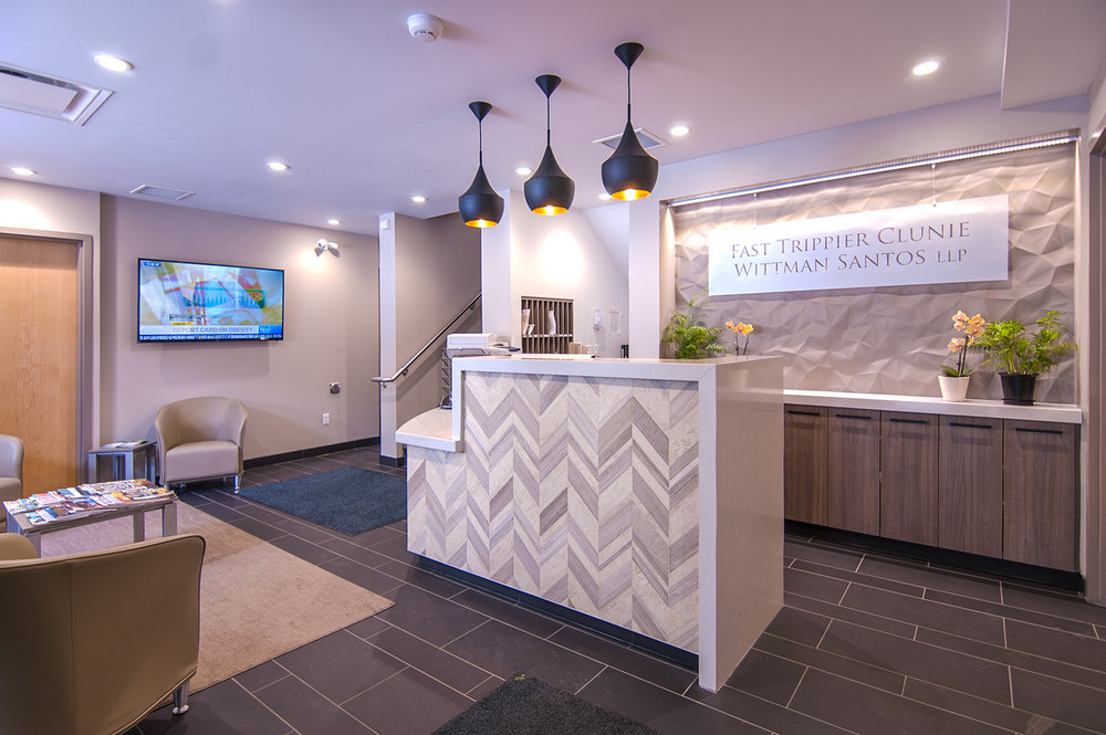 Fast Trippier Law Offices, interior photo of reception area / Photo: Derrick Finch