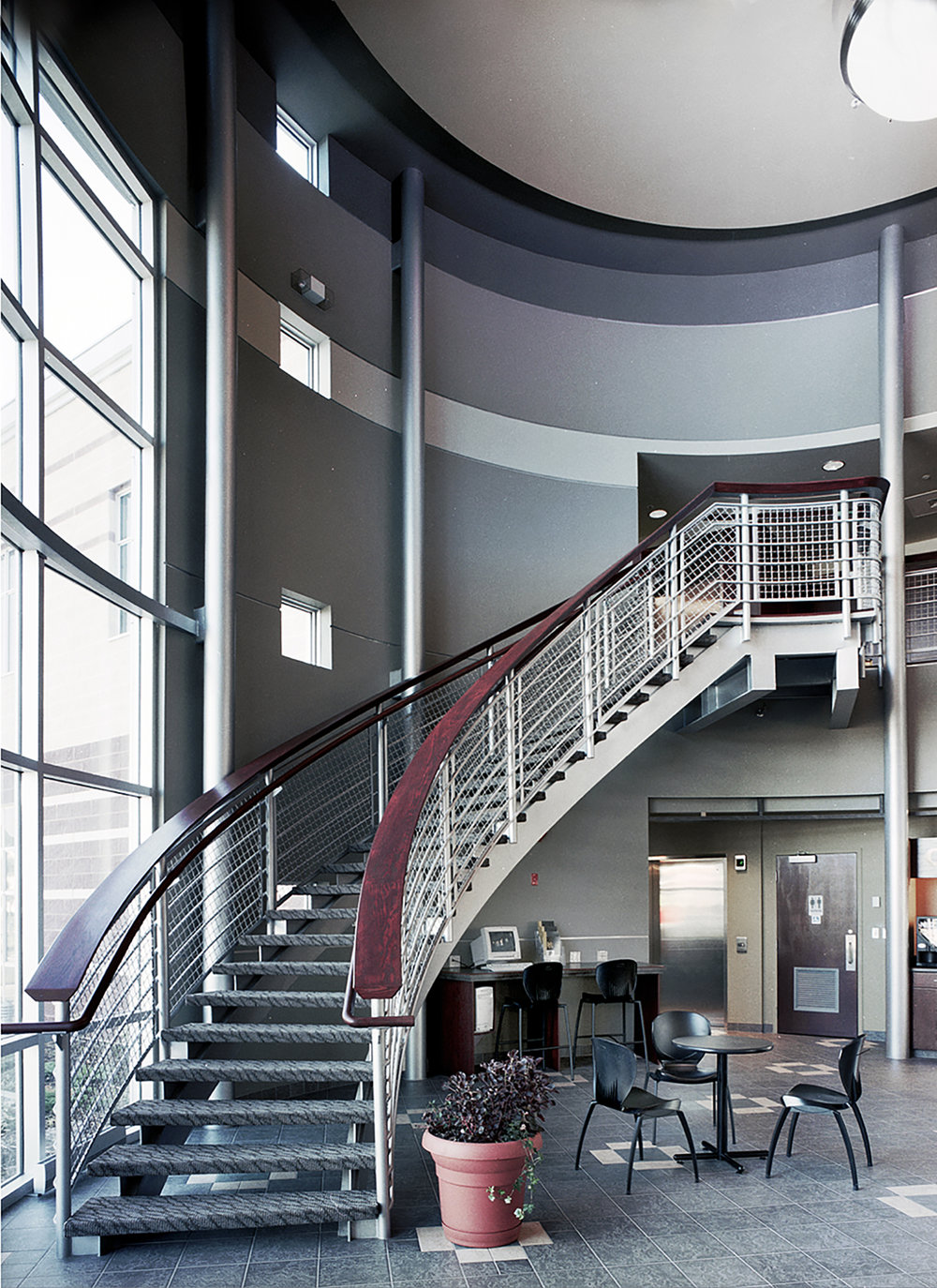 Holy Spirit (Entegra) Credit Union, interior photo of stairway