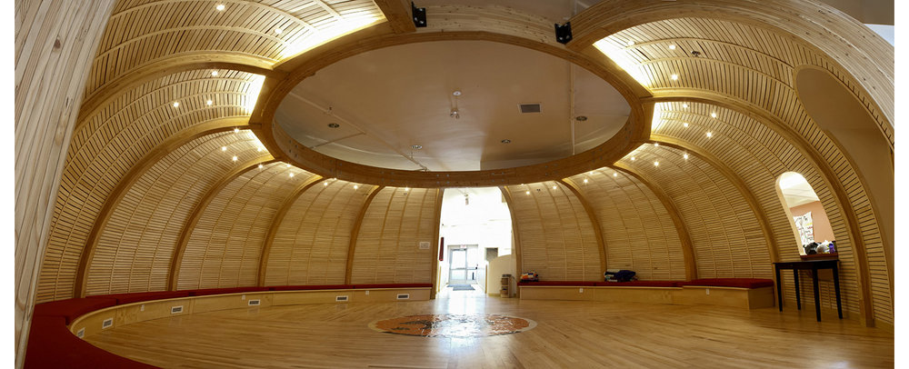 Makoonsag Daycare, interior photo of spirit room / Photo: Derrick Finch