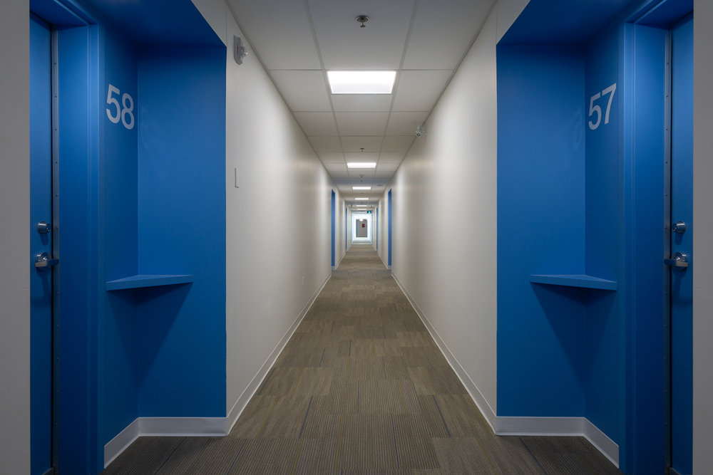 Old Grace Housing Co-op, interior photo of hallway / Photo:  Lindsay Reid