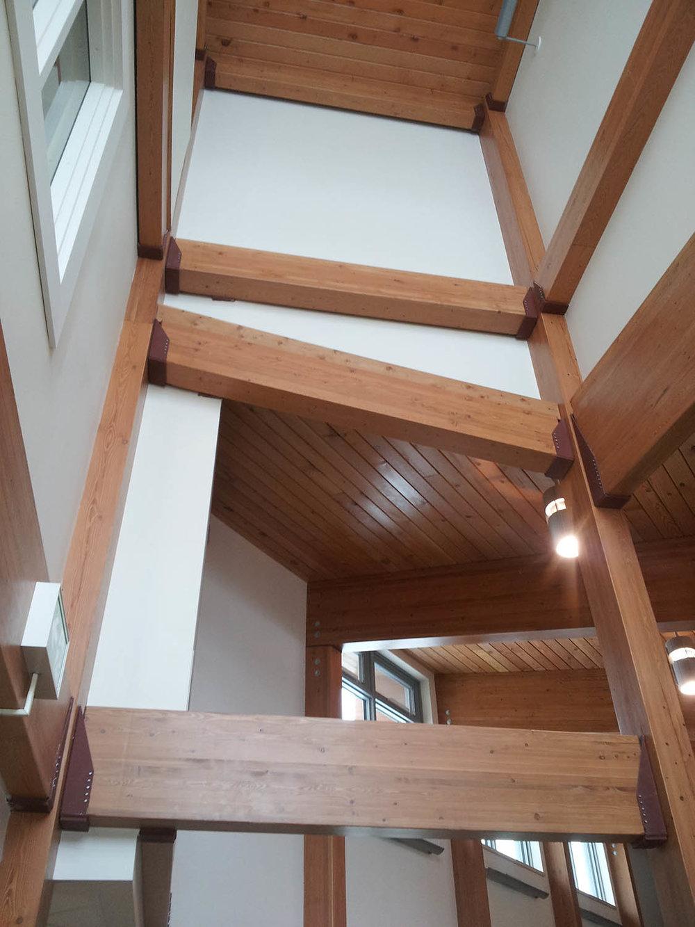 Prairie Mountain Credit Union, interior photo of atrium