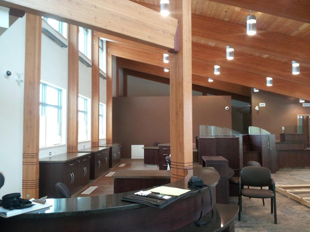 Prairie Mountain Credit Union, interior photo of reception