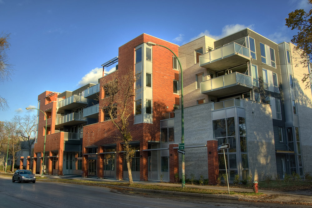 Pulse on River Condominiums, exterior photo of building / Photo: Bryan Scott