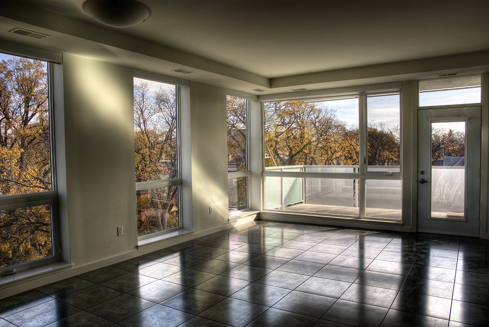 Pulse on River Condominiums, interior photo of unit / Photo: Bryan Scott