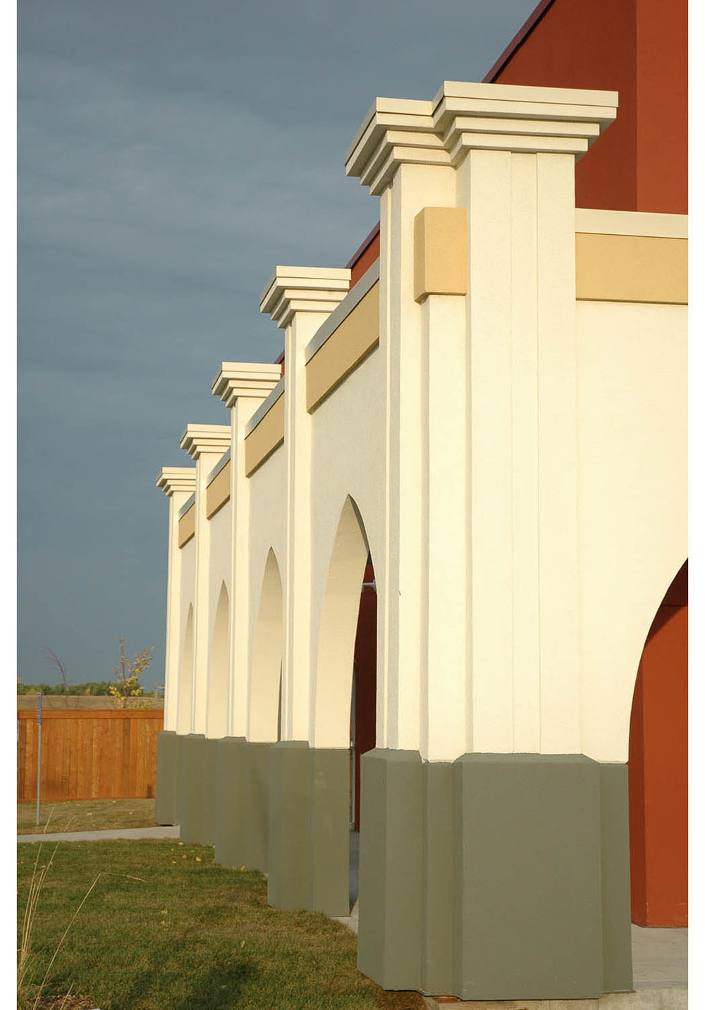Punjab Cultural Centre, exterior detail photo of building / Photo: Derrick Finch