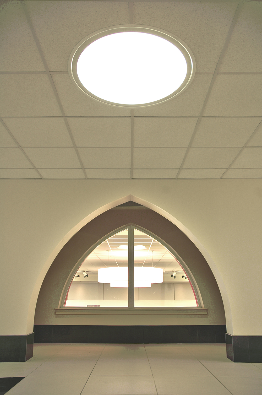 Punjab Cultural Centre, interior photo of arch and skylight / Photo: Derrick Finch
